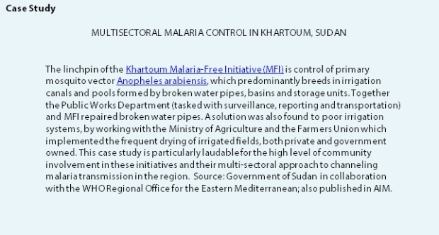 Case Study Malaria and Water