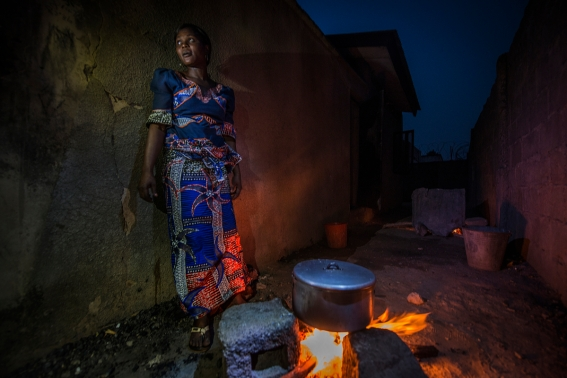 Escaping Nigeria's brutal violence. Photograph credit: Peter Biro.