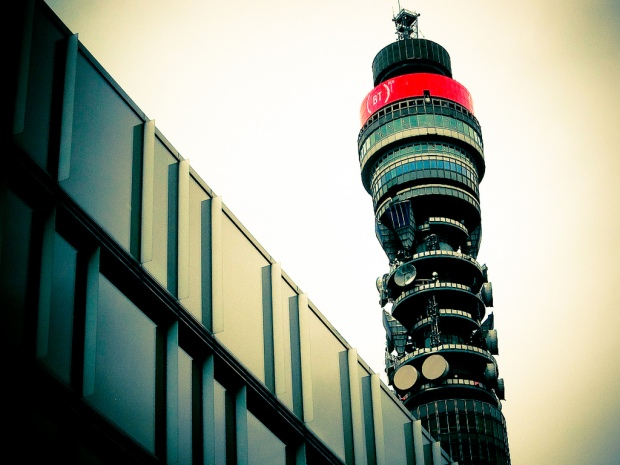 BT Tower Turns Red For World Aids Day. Image Credit: Jon Curnow, Flickr.