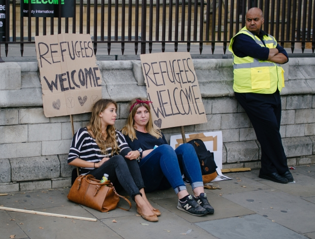 'Refugees Welcome' at London Rally on 12 September 2015. Image credit: R4vi, Flickr