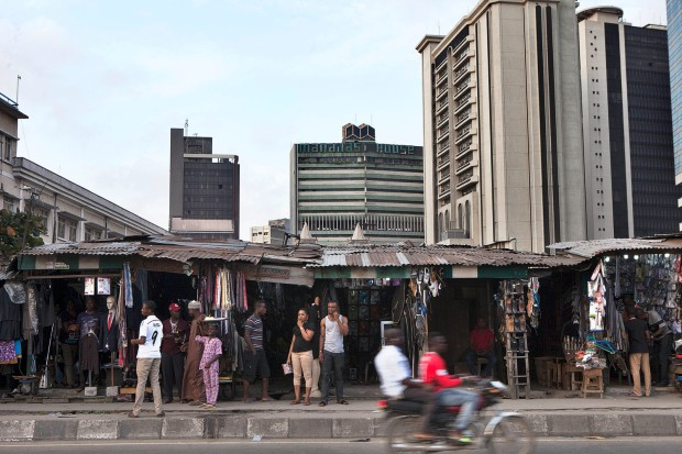 'Mutation'. View of Marina Street, Lagos Island, the business district of Lagos and the commercial nerve of Lagos. Image Credit: Andrew Esiebo.