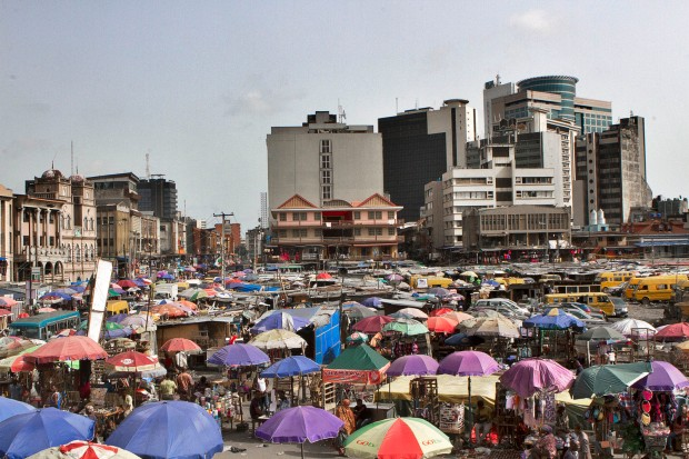 'Mutation'. Nnamdi Azikiwe street, the business district of Lagos and the commercial nerve of Lagos. Image Credit: Andrew Esiebo.