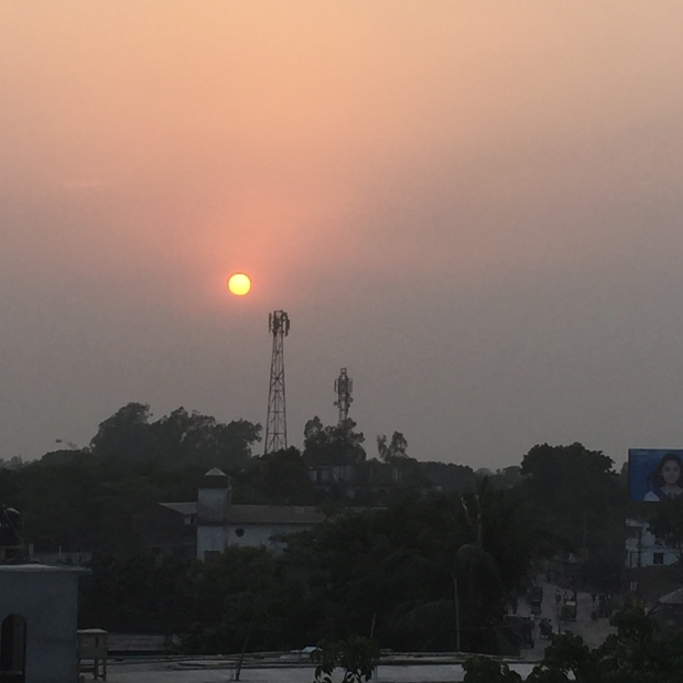 Dusk from Lepra field office, Sirajganj. Credit: A. Bow-Bertrand