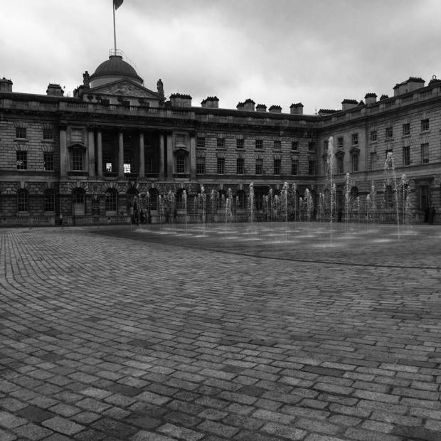 Is this pathetic fallacy? Dark and gloomy Somerset House quad the weekend post-Brexit vote